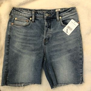 NWT Free People Pacific Blue Wash Jean Shorts